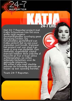 Katja is ziek