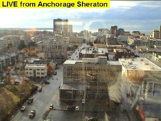 Uitzicht vanuit het Sheraton in Anchorage