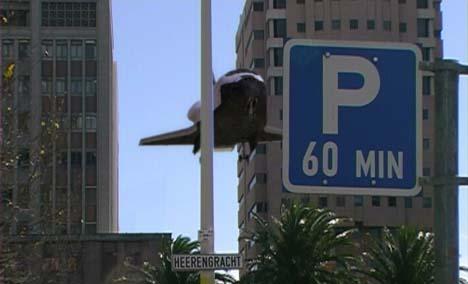 Een Shuttle in Kaapstad - foto afkomstig uit de presskit van 2001: A Space Oddity
