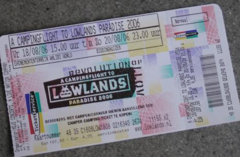 Lowlands-kaartje