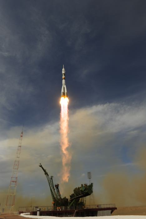Soyuz launch from kazachstan